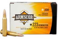 (4806015504474) ARMSCOR AMMO .223 55GR. FMJ VALUE PACK 100 ROUND PACK
