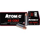 (858767004447) ATOMIC AMMO .45LC 250GR. BONDED MATCH HP 50-PACK